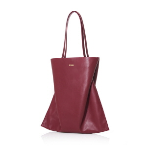 VERTICAL SHOPPER L BURGUNDY