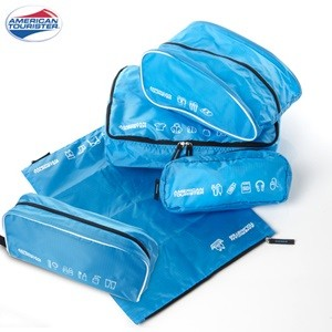 5-in-1 TRAVEL POUCHES BLUE/WHITE