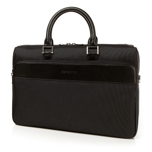 PONY PONY LAPTOP BRIEFCASE-LEATHER BLACK