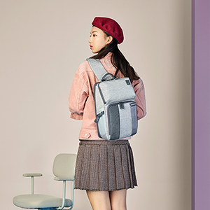 숄더 백팩 LIGHT GREY HEATHER