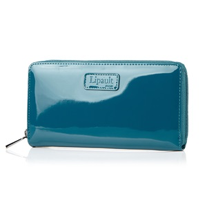 ZIP AROUND WALLET DUCK BLUE