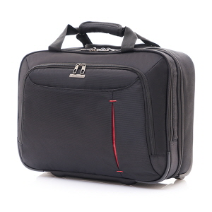 Laptop Rolling Tote BLACK