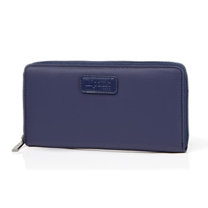 ZIP AROUND WALLET NAVY