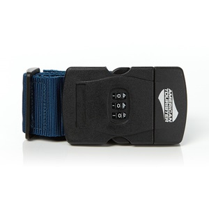 3-DIAL COMBINATION LUGGAGE STRAP BLUE