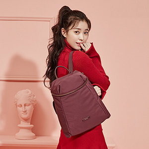 SIMPLE BACKPACK WINE RED