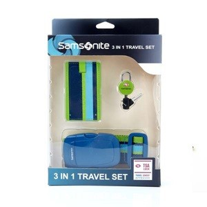 3 IN 1 TRAVEL SET GREEN/BLUE